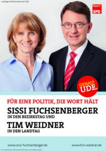 Plakat Sissi Fuchsenberger und Tim Weidner