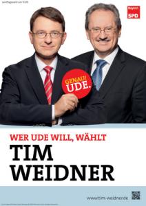 Plakat Tim Weidner und Christian Ude